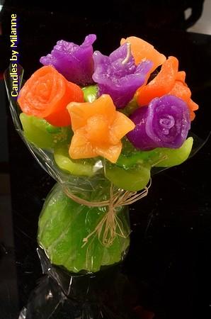 Blumenstrauss, H: 17 cm