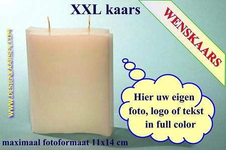 Wenskaars met eigen foto/ tekst / logo, 14x18x4 cm