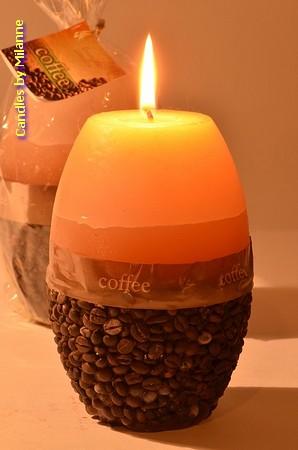 Kaffee Duftkerze, Gross - Ø 8,5 cm - h: 14 cm