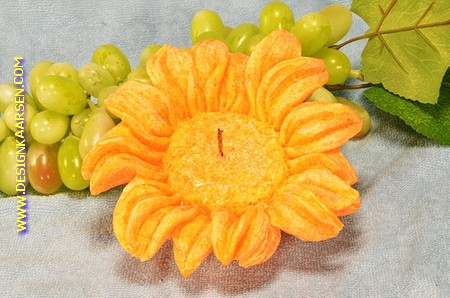 Sonne Blume Kerze GELB/ORANGE
