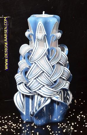 Kaars, handgesneden, 22 cm 50621  (zeer exclusief)