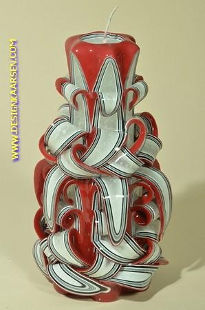 Kaars, handgesneden, 22 cm (zeer exclusief) 50504
