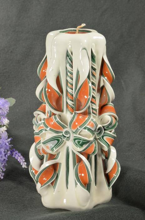 Kaars, handgesneden, 22 cm (zeer exclusief) 50597