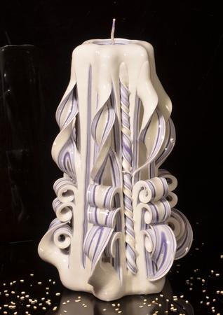 Kaars, handgesneden, 22 cm (zeer exclusief) 50608