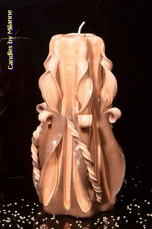 Kaars, handgesneden, 22 cm (zeer exclusief) 50617