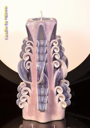 Kaars, handgesneden, 22 cm (zeer exclusief) 50641