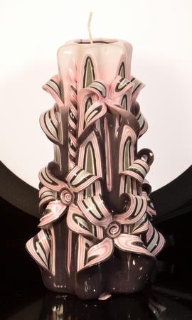 Kaars, handgesneden, 22 cm (zeer exclusief) 50643