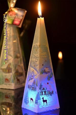 Weihnachtskerze BLAU mit LED