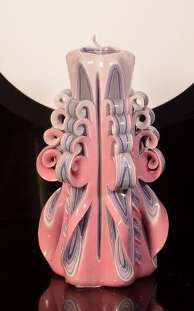 Kaars, handgesneden, 22 cm (zeer exclusief) 50550