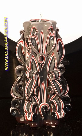 Kaars, handgesneden, 23 cm 50650 (zeer exclusief)