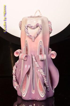 Kaars, handgesneden, 22 cm 50661 (zeer exclusief)