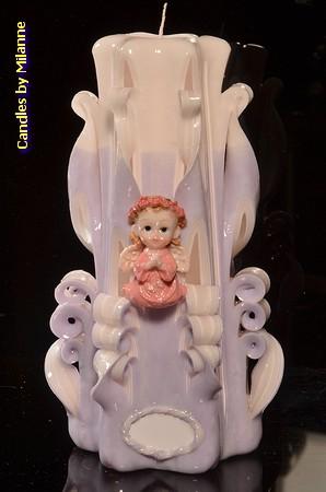 Geboorte Kaars, handgesneden, 23 cm 51601