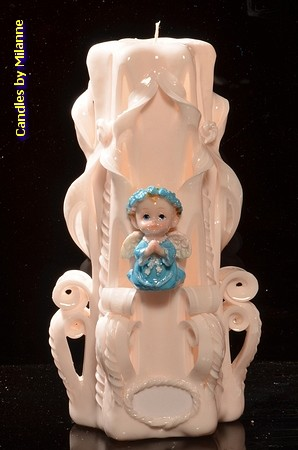 Geboorte Kaars, handgesneden, 23 cm 51613