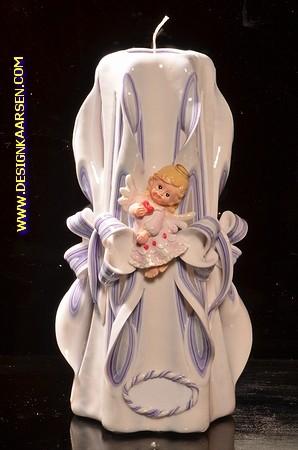 Geboorte Kaars, handgesneden, 23 cm 51618