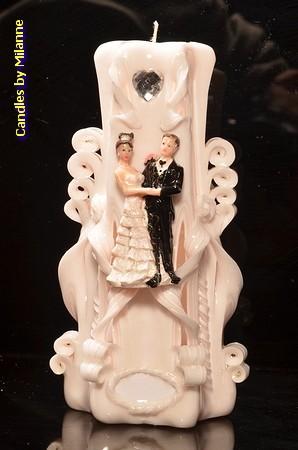 Hochzeit Kerze A, 23 cm Handgeschnitzt