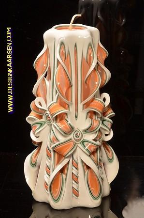 Kaars, handgesneden, 22 cm 50581 (zeer exclusief)