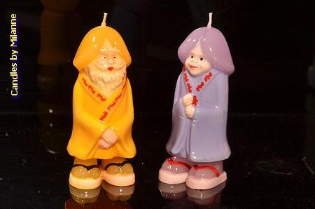 Piemel kaarsen (set van 2 stuks)