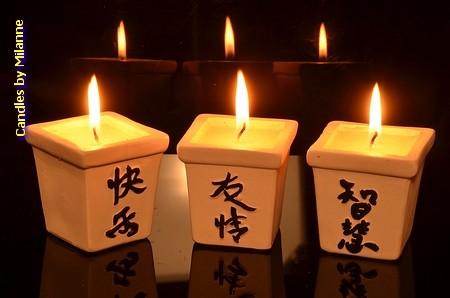 Chinesiche Kerzen (3 stück)