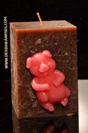 Happy Schwein Kerze, 10 cm 100