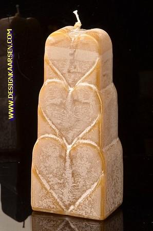 Herzen Kerze, MARMOR BRAUN, höhe: 18 cm