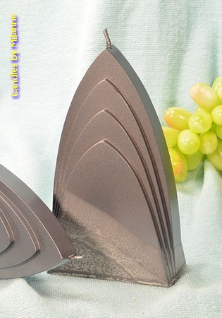 Bogen Kaars, MASSIEF GRIJS, hoogte: 17cm