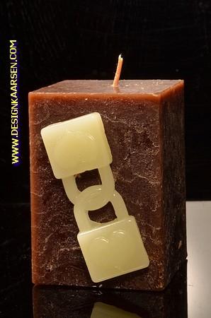 Doppelte Vorhäneschloss Kerze, H: 10 cm 101