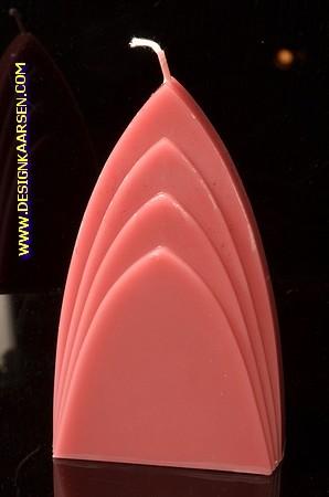 Bögen Kerze, BORDEAUX ROT, höhe: 17 cm