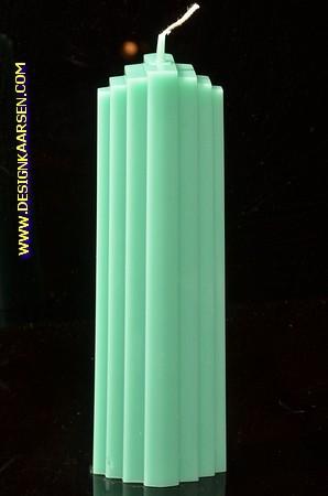 Marina kaars, MASSIEF GROEN, hoogte: 21 cm