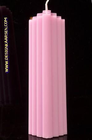 Marina kaars, GLANS LILA, hoogte: 21 cm