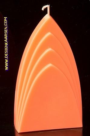 Bogen Kaars, GLANS ORANJE, hoogte: 17cm