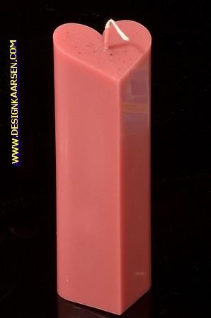 Hartenkaars BORDEAUX ROOD, hoogte: 18cm
