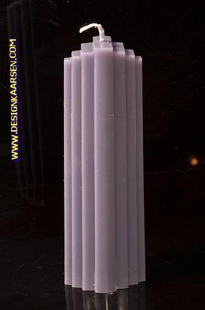 Marina kaars, MASSIEF GRIJS, hoogte: 21 cm