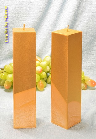 Kwadrant Kerze GOLD, H: 22 cm, 2 stück
