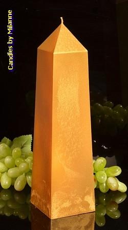 Obelisk Kerze, XXL GOLD H: 34 cm