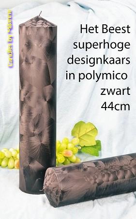 Superkaars (Het Beest) polymico ZWART hoogte 43 cm !!