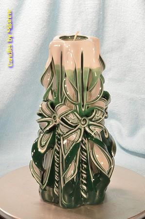 Kaars, handgesneden, 22 cm 51004 (zeer exclusief)