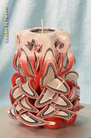 Handgeschnitzte Kerze, 16 cm 51206
