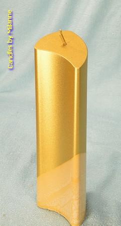 Angela kaars, GOUD Metallic, hoogte: 18 cm