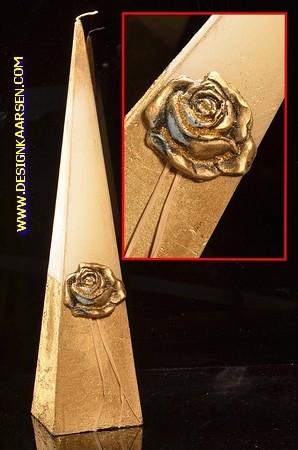 Gouden Roos, Piramide kaars, 33 cm