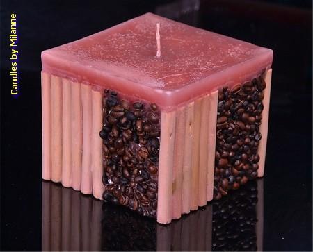 Kaffee / Bamboo Kerze,  BODEAUX