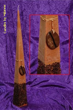 Koffie Kaars Piramide, 70 cm