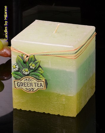 Grüne Tee, Quadra, H: 10 cm
