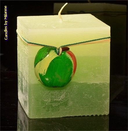 Apfelkerze, Quadra, H: 10 cm