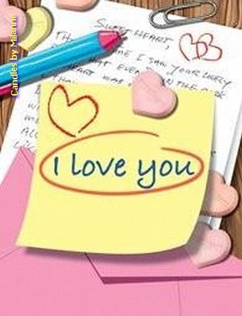 I LOVE YOU Geschenkkaartje