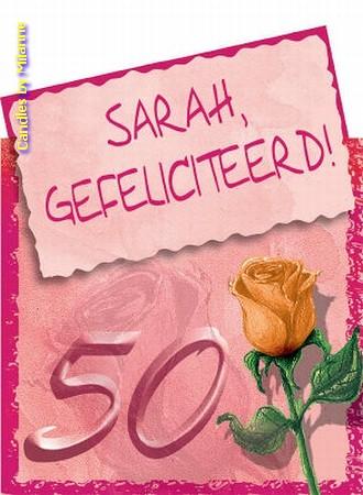 SARAH Geschenkkaartje