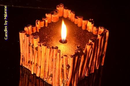 Zimt Kerze, Medium Braun