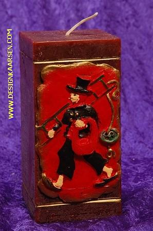 Schornsteinfeger Kerze, Quadra, H; 15 cm BRAUN