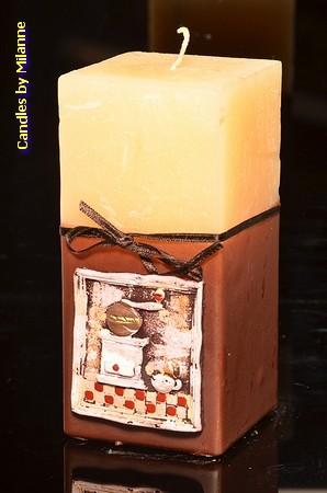 Kaffeemühle, Quadratischen Kerze H: 24 cm, 75x150 mm