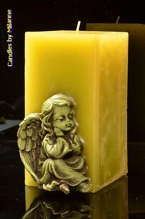 Engel Kerze, Gross, Grün
