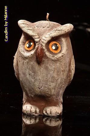 Uil, Kaars H: 13 cm